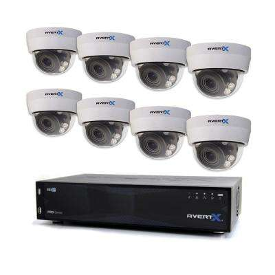 PRO 16-Channel HD+ IP Surveillance System with 8TB and (8) 4MP Autofocus Dome Cameras and Night Vision