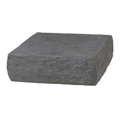 8 in. x 8 in. Natural Gray Composite Plateau Postcover Cap