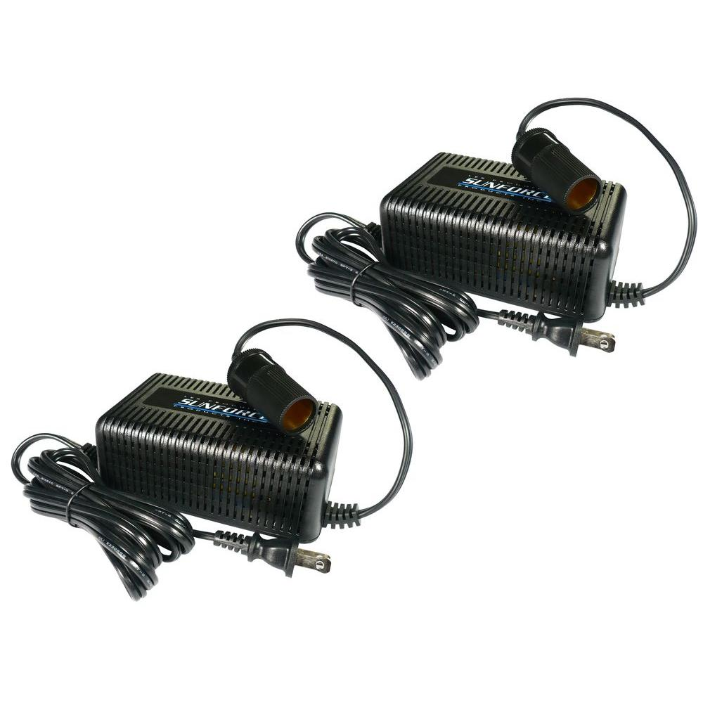 AC/DC Power Converter Twin Pack,  Black
