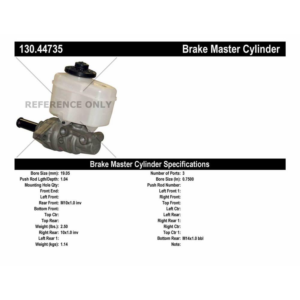 Brake Master Cylinder For 2004 2006 Toyota Tundra 2005 Centric 130 44735 Automotive Master Cylinders Parts