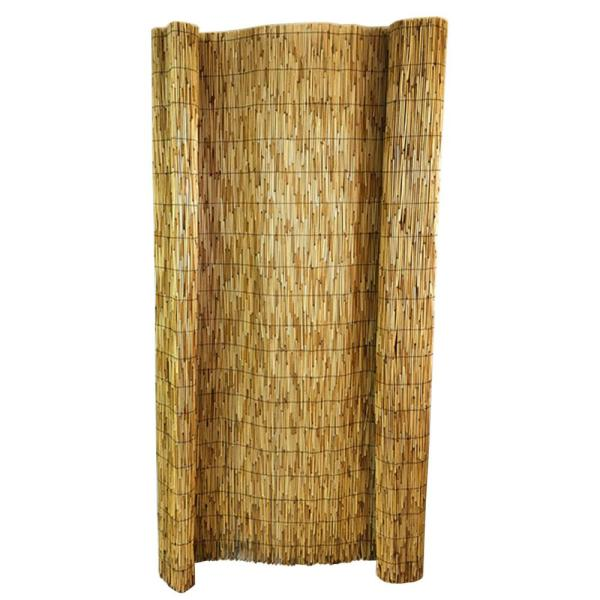72 in. H x 168 in. W Natural Bamboo Reed Garden Fence