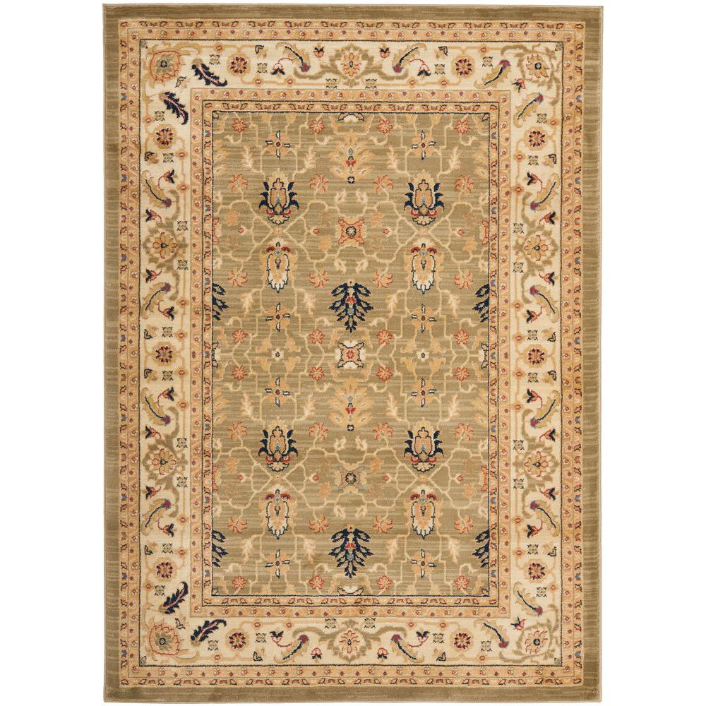 Safavieh austin green creme 5 ft 3 in x 7 ft 6 in area for Green and cream rugs