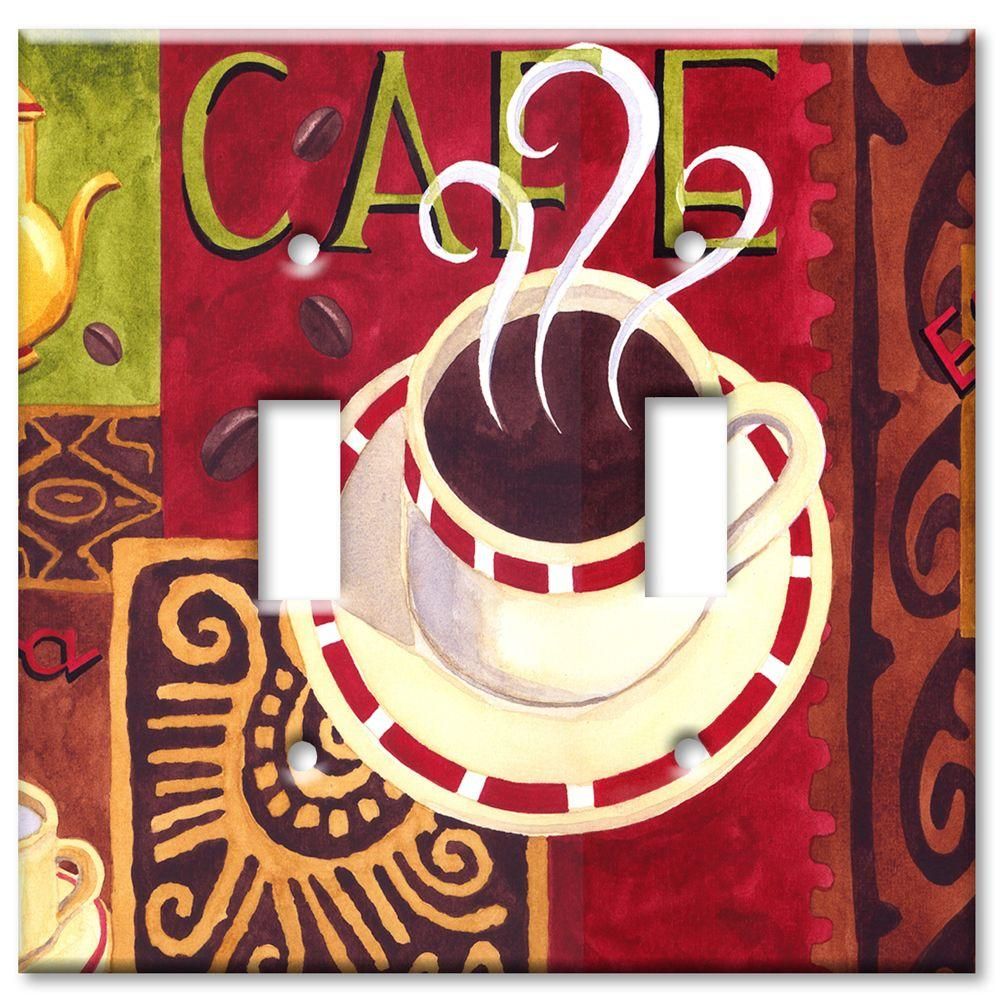 Art Plates Coffee Cafe 2 Toggle Wall Plate
