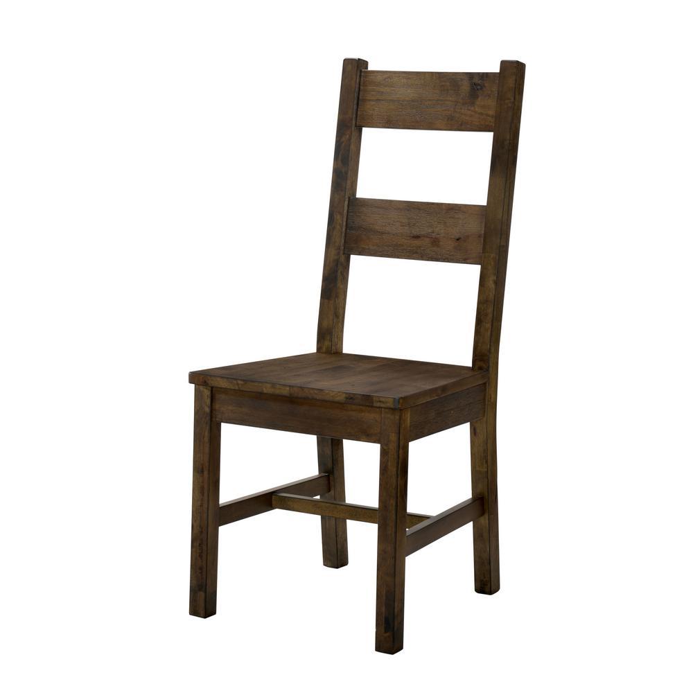 Stella Rustic Oak Wood Ladder Side Chair (Set of 2)