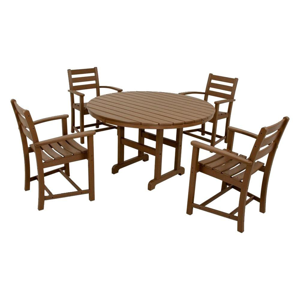 Trex Outdoor Furniture Monterey Bay Tree House 5 Piece Plastic Patio Dining Set