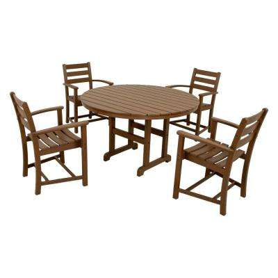 Monterey Bay Tree House 5-Piece Plastic Outdoor Patio Dining Set
