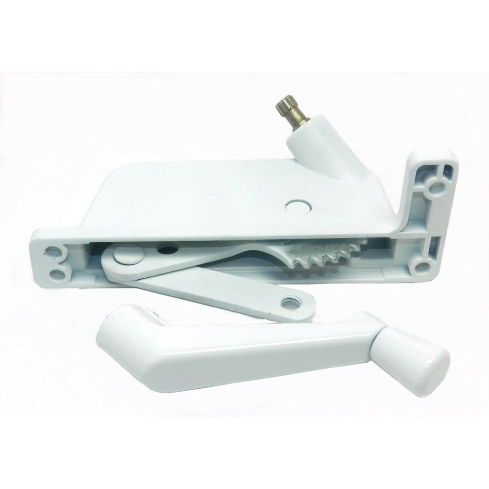 Binnings/Pan American 2-1/2 in. White Aluminum Right-Hand Awning Window Operator