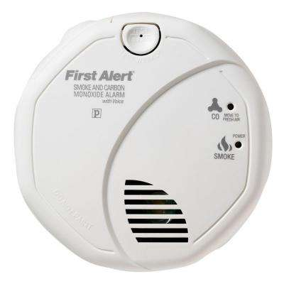 Battery Operated Smoke and Carbon Monoxide Alarm Detector with Voice Alert