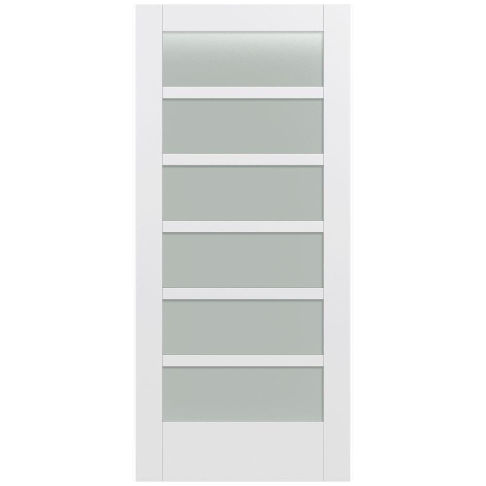 Jeld wen 36 in x 80 in moda primed pmt1066 solid core for 6 horizontal panel wood doors