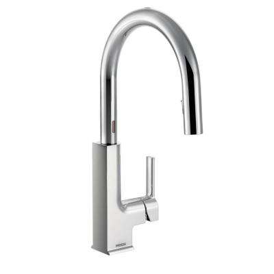 STo Single-Handle Pull-Down Sprayer Touchless Kitchen Faucet with MotionSense in Chrome