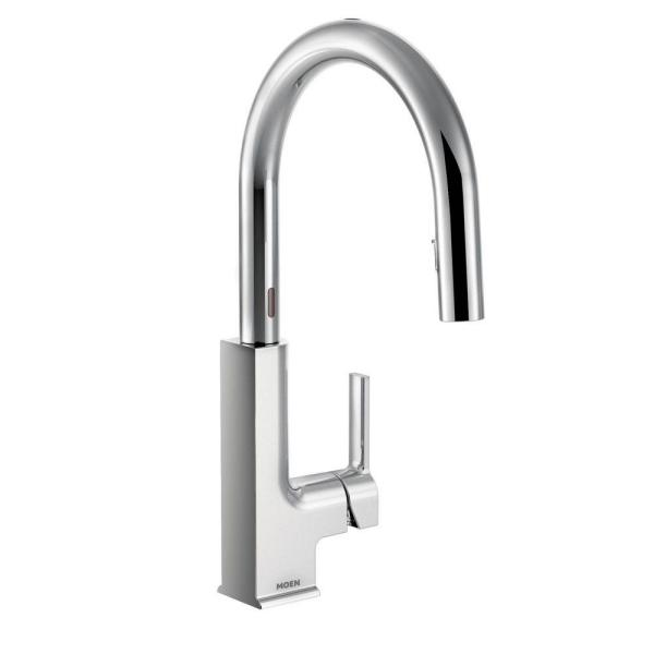 MOEN STo Single-Handle Touchless Pull-Down Sprayer Kitchen Faucet with MotionSense and Power Clean in Chrome