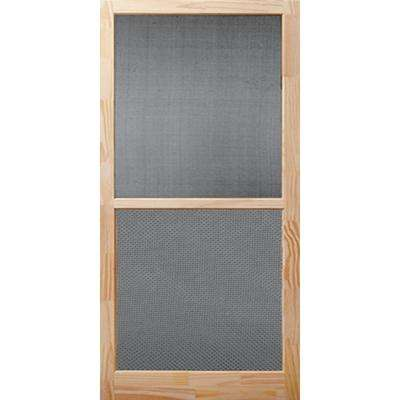 32 in. x 80 in. Century Unfinished Wood Screen Door
