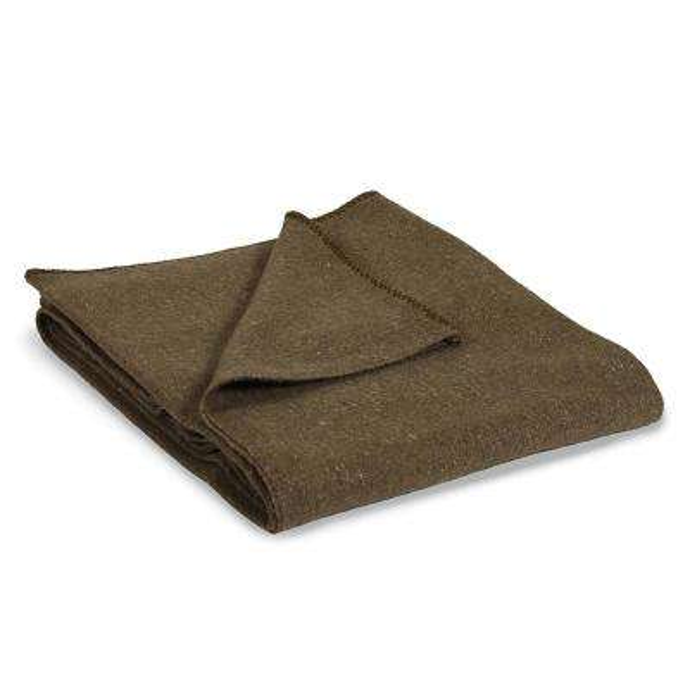 Wool Blend Blanket Green