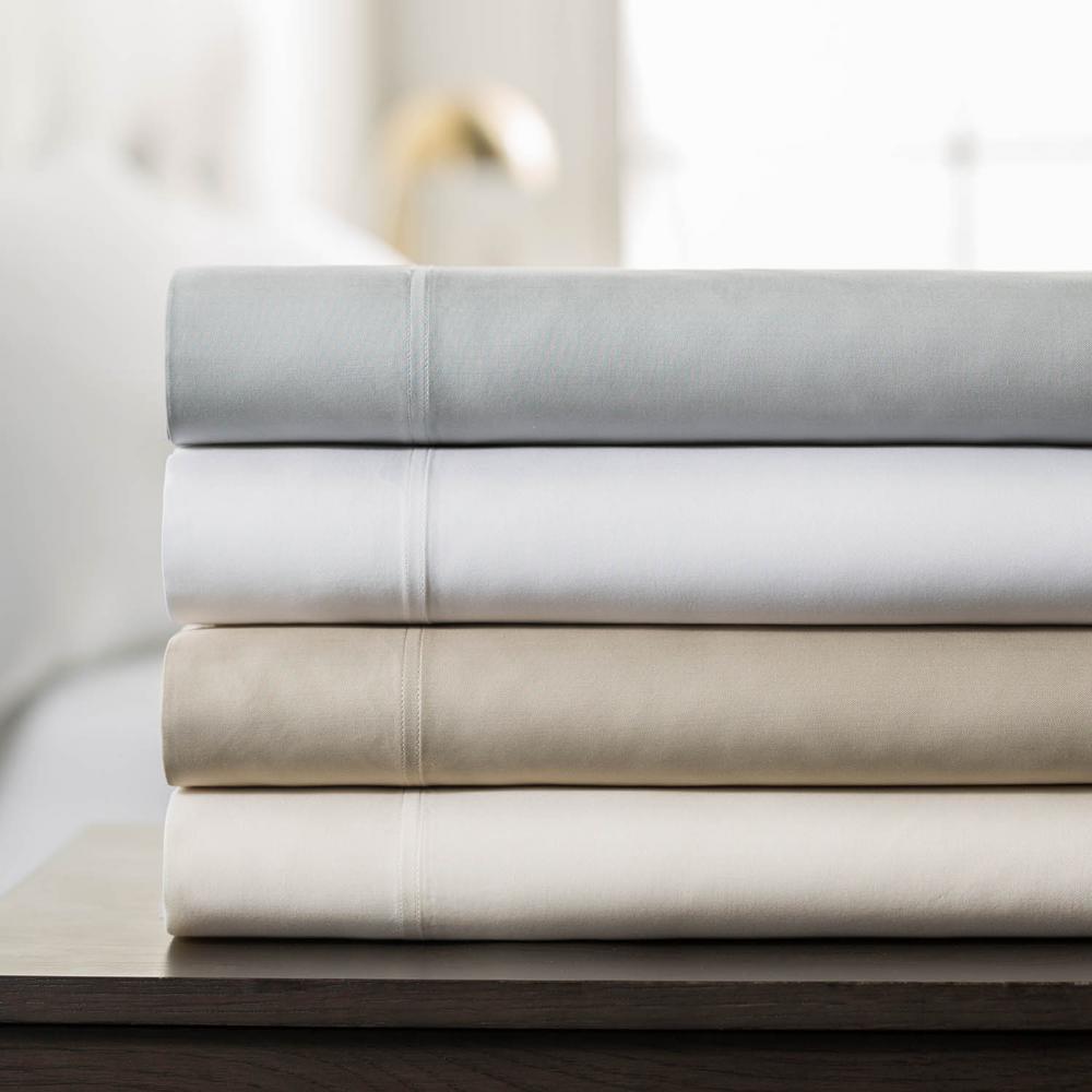 4-Piece Gray Rayon from Bamboo Cal King Sheet Set