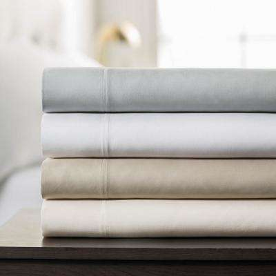 4-Piece Ivory Rayon from Bamboo Queen Sheet Set