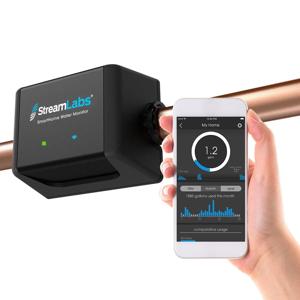 Streamlabs Streamlabs Smart Home Water Monitor, Black