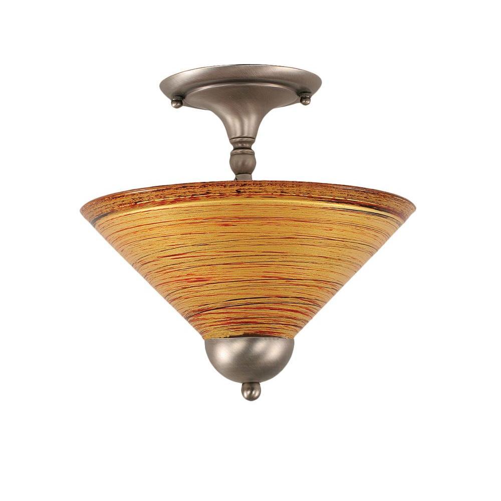 Concord 2-Light Brushed Nickel Ceiling Semi-Flush Mount Light