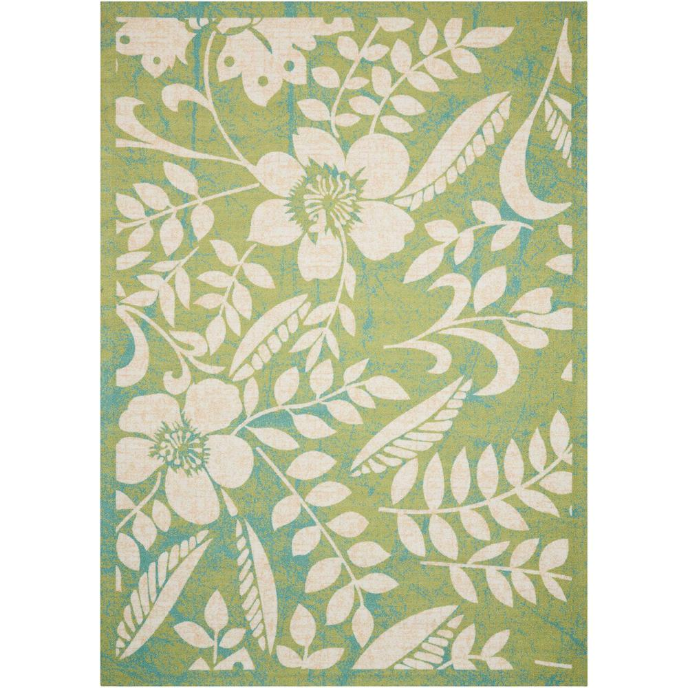 Nourison Home And Garden Green 10 Ft X 13 Ft Indoor