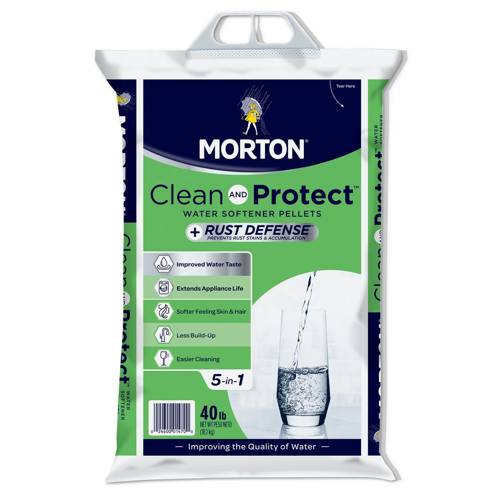 Morton Salt Morton Clean and Protect Plus Rust Defense Water Softener  Pellets (40 lb )