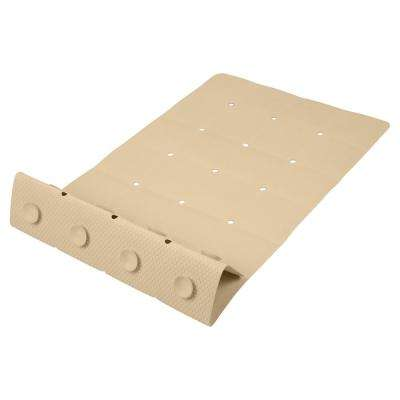 Beige Anti-Slip Folding Tile Rubber Bath Mat
