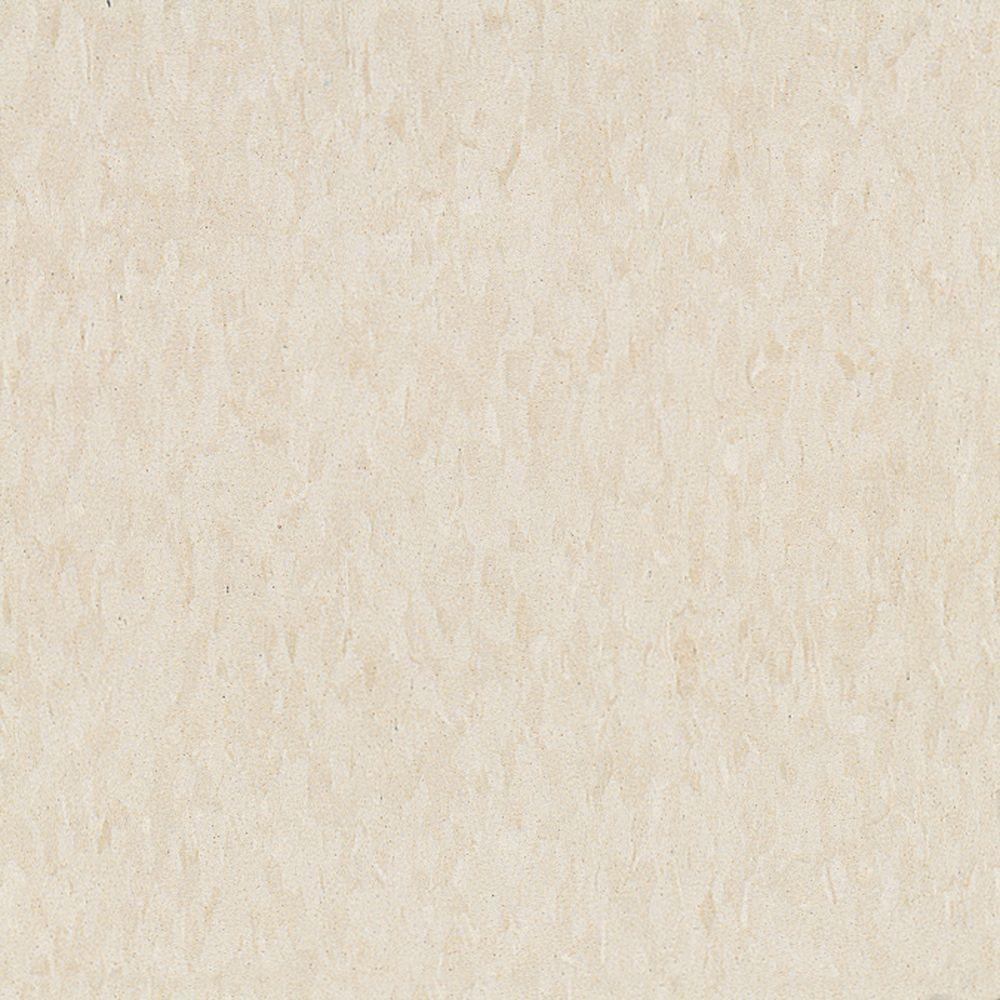 Imperial Texture VCT 12 in. x 12 in. Antique White Standard