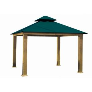 12 ft. x 12 ft. ACACIA Aluminum Gazebo with Teal Canopy by
