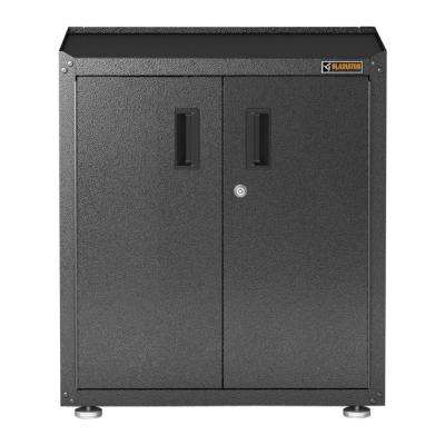 Ready to Assemble 31 in. H x 28 in. W x 18 in. D Steel Freestanding Garage Cabinet in Hammered Granite