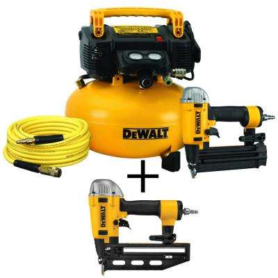 18-GA Brad Nailer and 6 Gal. Heavy-Duty Pancake Electric Air Compressor Combo Kit (1-Tool) w/Bonus 16-GA 2.5 in. Nailer