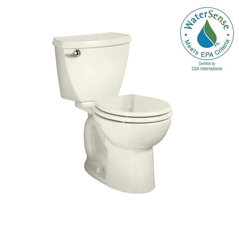 Cadet 3 Powerwash 10 in. Rough-In 2-piece 1.28 GPF Single Flush Round Toilet in Linen