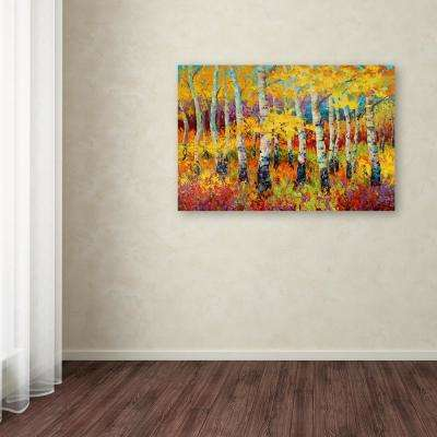 "22 in. x 32 in. ""Autumn Rythmn"" by Marion Rose Printed Canvas Wall Art"