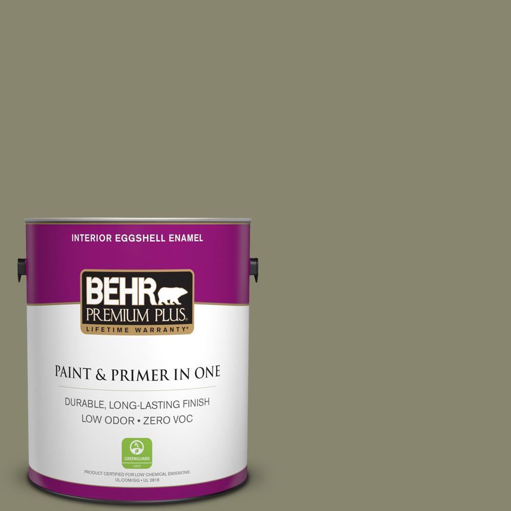 1 gal. #PPU8-21 Mossy Bank Zero VOC Eggshell Enamel Interior Paint