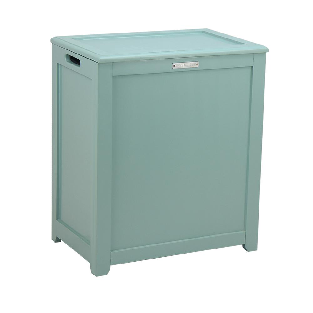 Oceanstar Storage Laundry Hamper In Turquoise