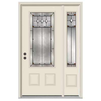 3/4 Lite Mission Prairie Primed Steel Prehung  sc 1 st  The Home Depot & South-Central - Beach Style - Single door with Sidelites - Doors ...
