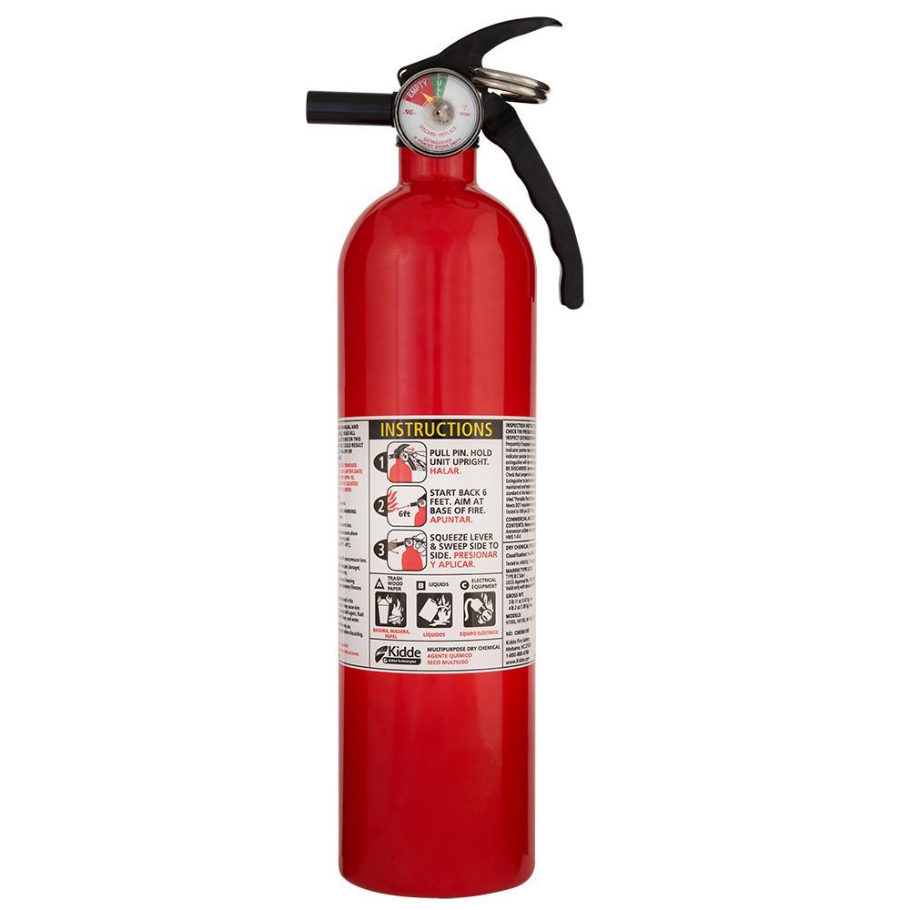 Kidde Pro 210 2a 10b C Fire Extinguisher 21029292 The Home Depot