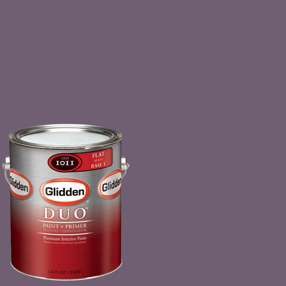 Glidden DUO Martha Stewart Living 1-gal. #MSL191-01F Purple Basil Flat Interior Paint with Primer-DISCONTINUED