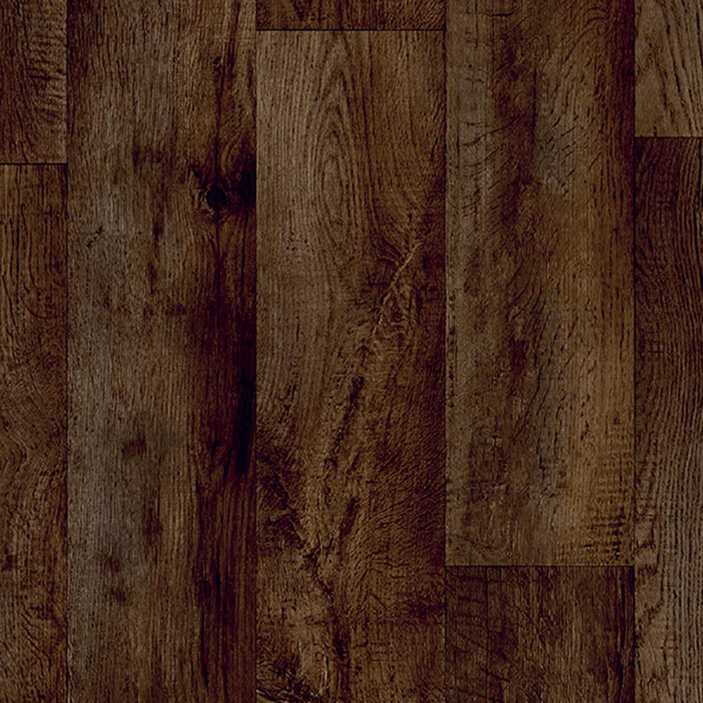 Take Home Sample - Charlotte Oak Java Vinyl Sheet - 6