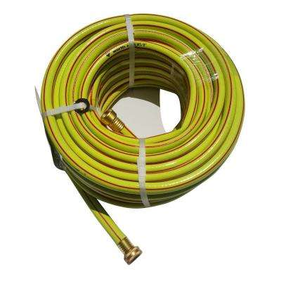 5/8 in. Dia x 50 ft. 3 Stars Yellow Garden Hose