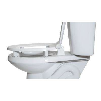 Centoco ADA Compliant 3 in. Raised Elongated Closed Front with Cover Toilet Seat in White