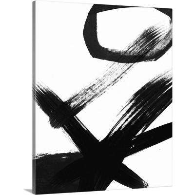 """BW Brush Stroke III"" by Linda Woods Canvas Wall Art"