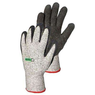 Medium Size 8 Cut and Puncture Protection Latex-Dip Gloves
