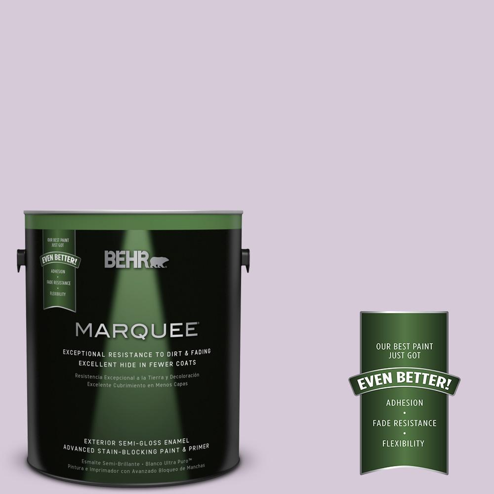 1-gal. #670C-3 Purple Cream Semi-Gloss Enamel Exterior Paint