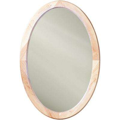 Dunhill 21 in. W x 31 in. H x 3.5 in. D Oval Recessed Mirrored Medicine Cabinet in Maple