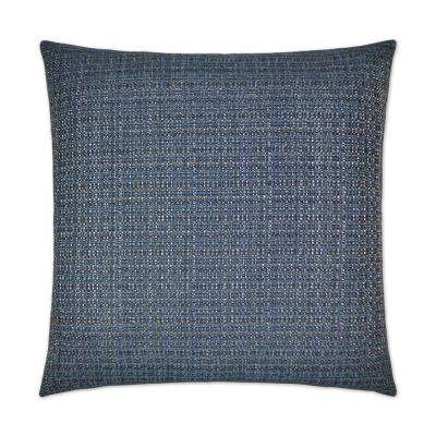 Jackie-O Denim Feather Down 24 in. x 24 in. Decorative Throw Pillow