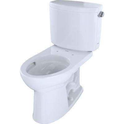 Drake II 2-Piece 1.28 GPF Single Flush Elongated Toilet with CeFiONtect and Right Hand Trip Lever in Cotton White
