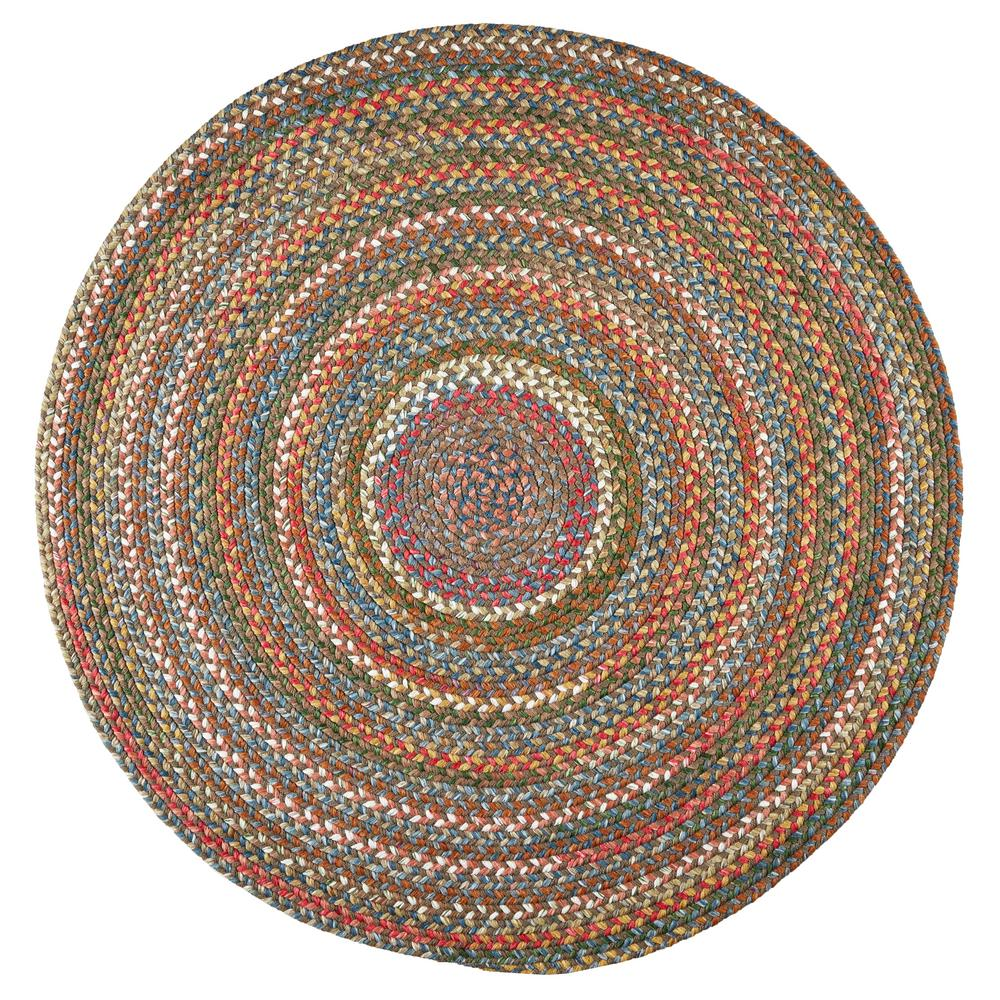Rhody Rug Bouquet Bronze 8 Ft X 8 Ft Round Indoor