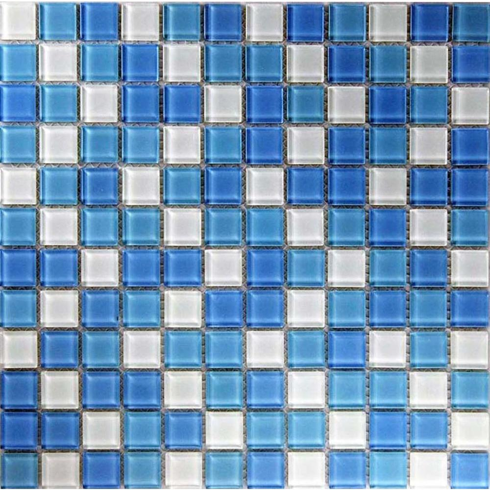 Epoch Architectural Surfaces Oceanz Atlantic Mosaic Glass Mesh Mounted Tile -3 in. x 3 in. Tile Sample-DISCONTINUED