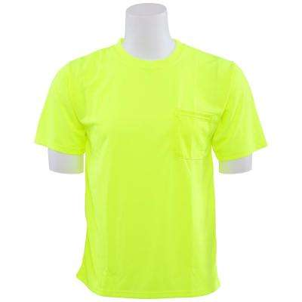 9006 4X Non-ANSI Poly Birdseye Mesh Hi Viz Lime T-Shirt
