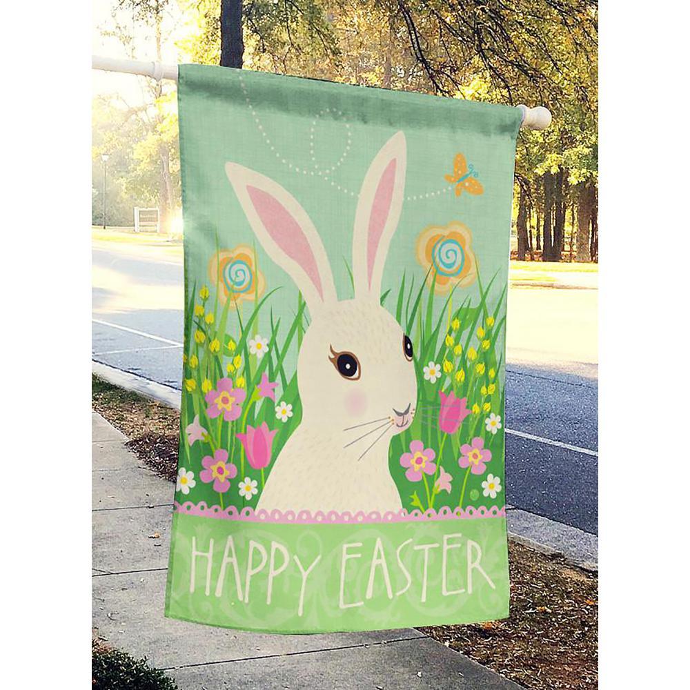 "Easter Bunnies Full Size Flag 28/"" x 40/"""