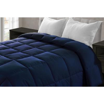 Jill Morgan Navy Blue Microfiber Queen Comforter