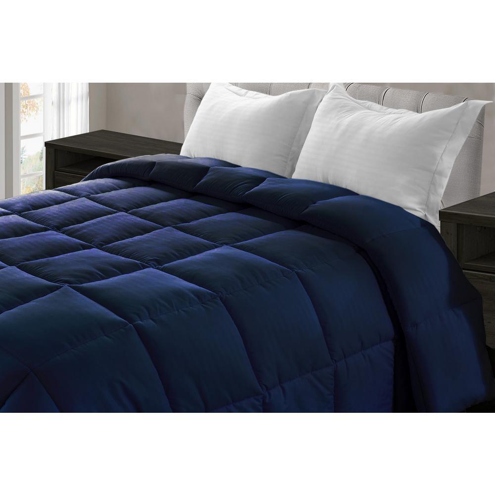 Jill Morgan Navy Blue Microfiber Queen Comforter